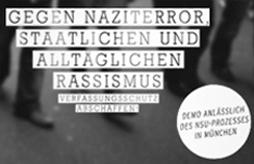 13. April - Dmeo anlässlich des NSU-Prozesses in München
